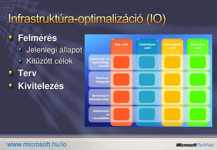 Infrastruktúra-optimalizáció (IO)