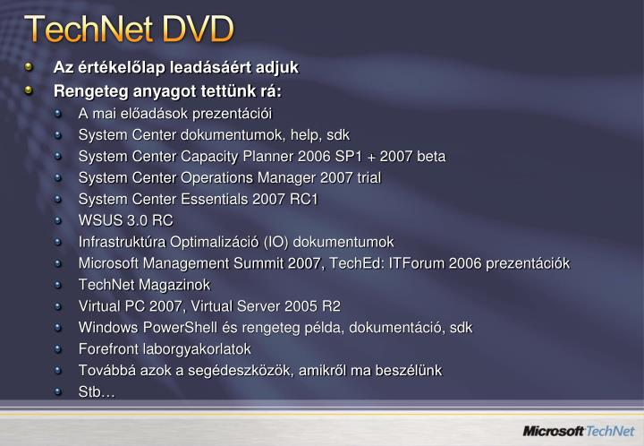 TechNet DVD