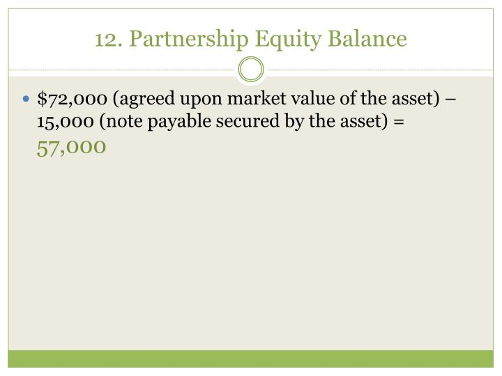 12. Partnership Equity Balance