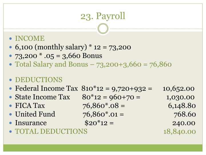 23. Payroll