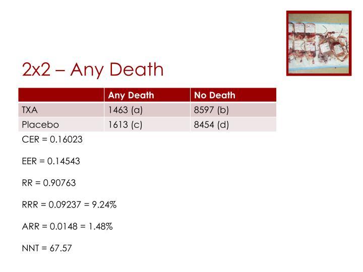 2x2 – Any Death
