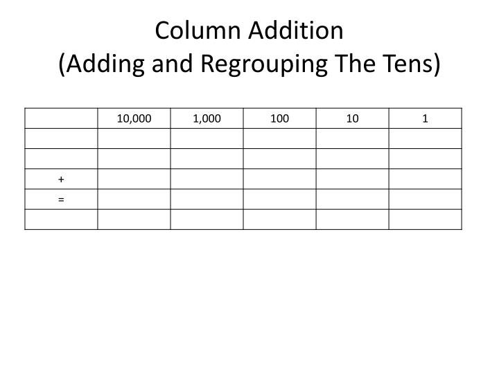 Column Addition