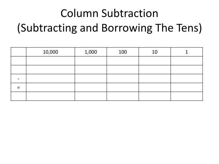 Column Subtraction