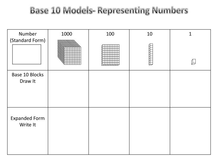 Base 10 Models-