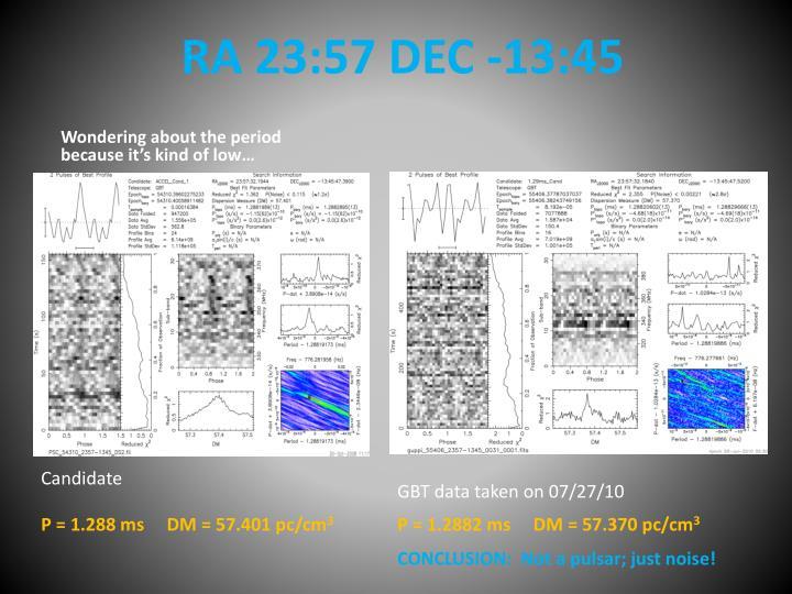 RA 23:57 DEC -13:45