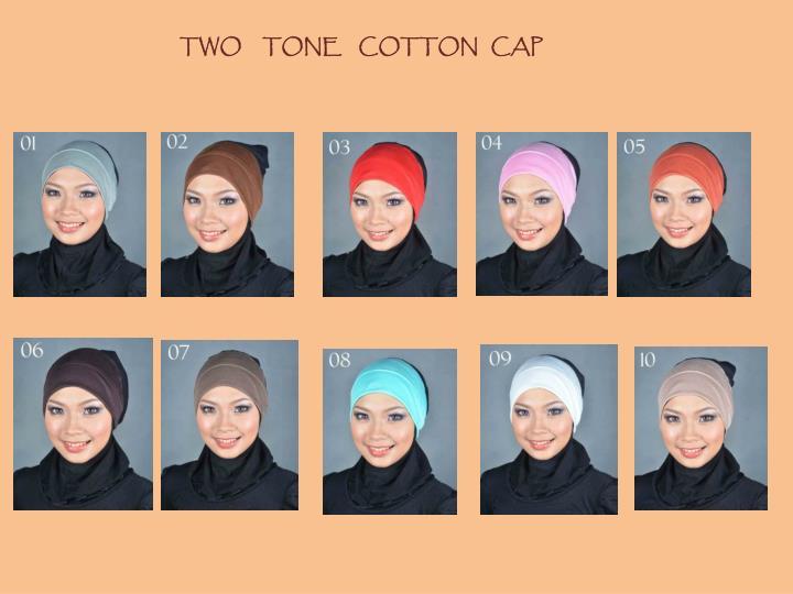 TWO     TONE    COTTON   CAP