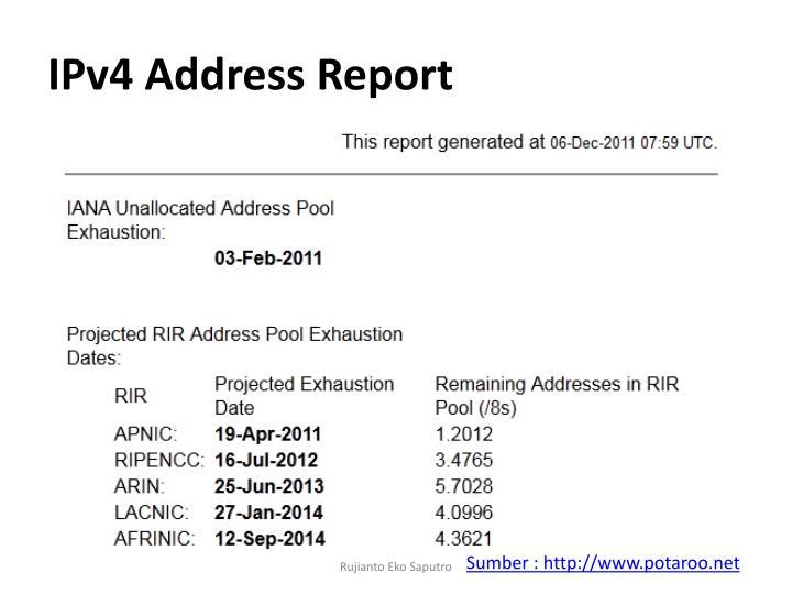 IPv4 Address Report