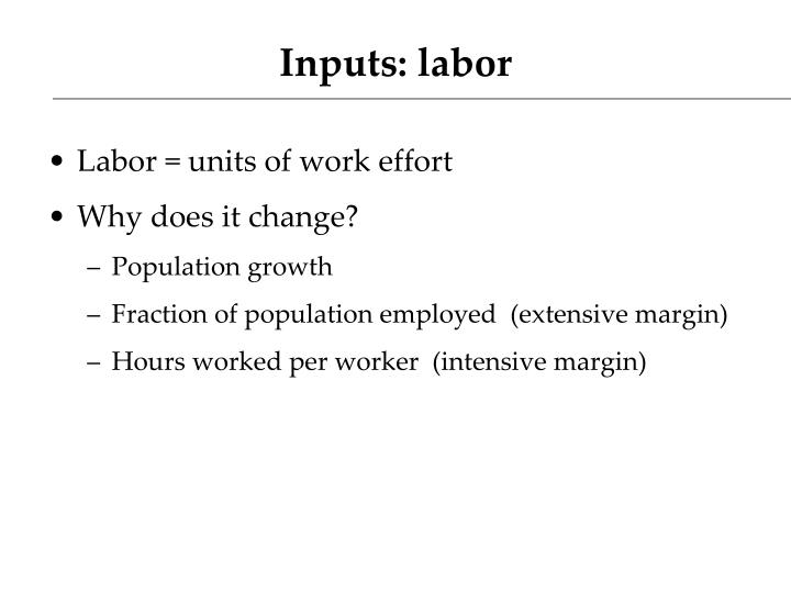 Inputs: labor