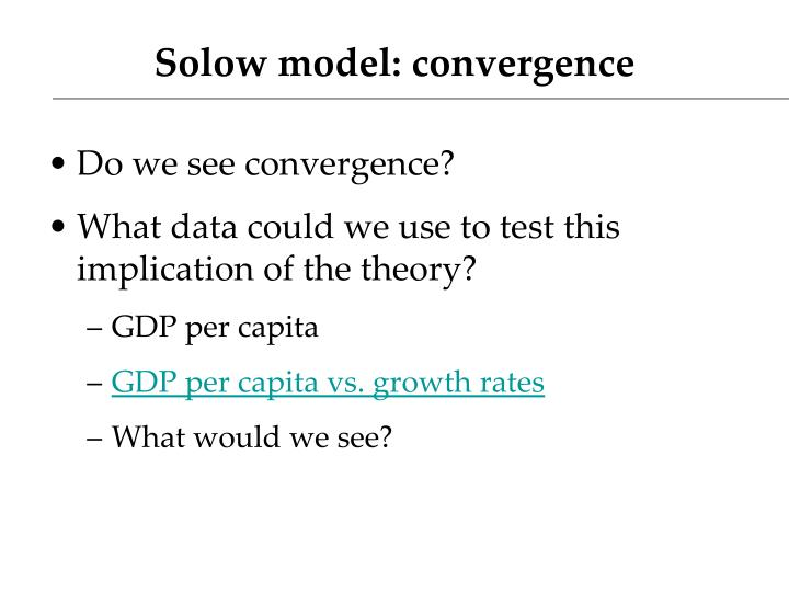 Solow model: convergence