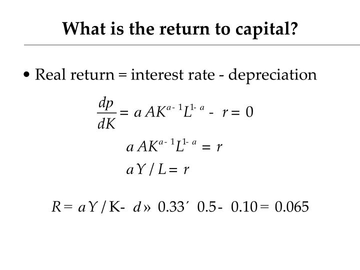 What is the return to capital?