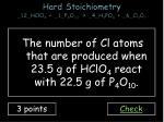 hard stoichiometry 12 hclo 4 1 p 4 o 10 4 h 3 po 4 6 cl 2 o 72