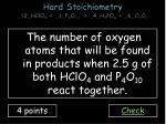 hard stoichiometry 12 hclo 4 1 p 4 o 10 4 h 3 po 4 6 cl 2 o 73