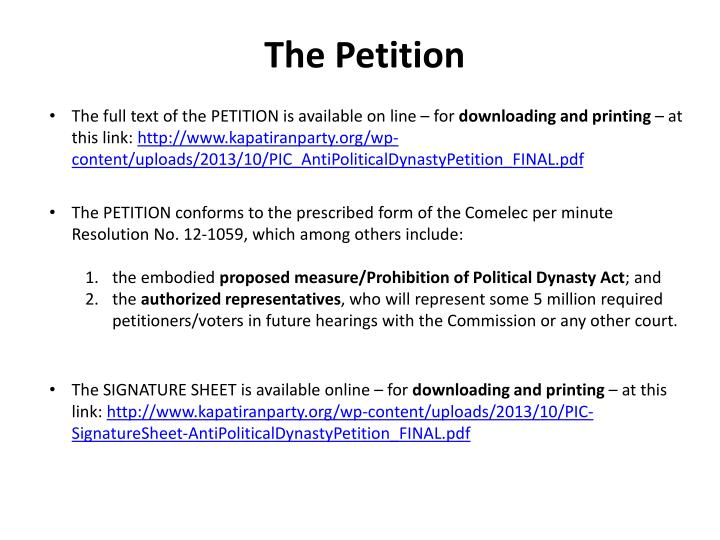 The Petition