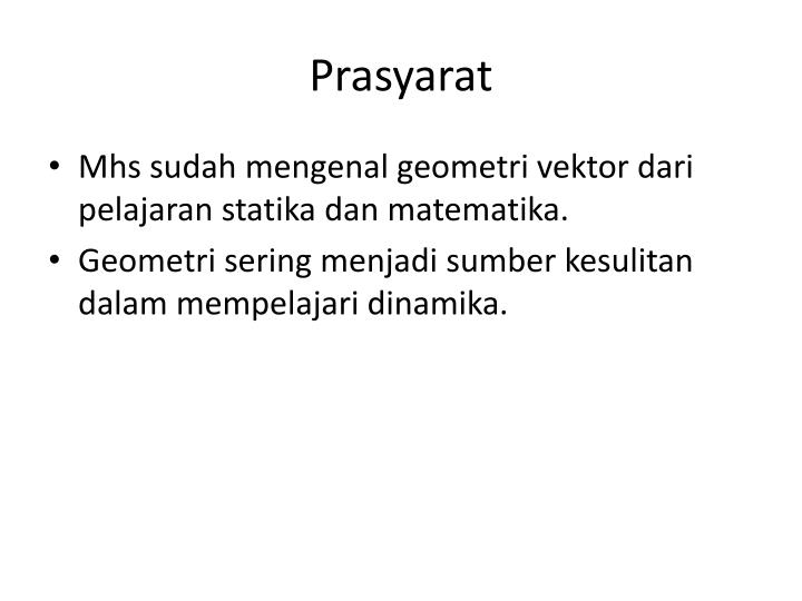 Prasyarat