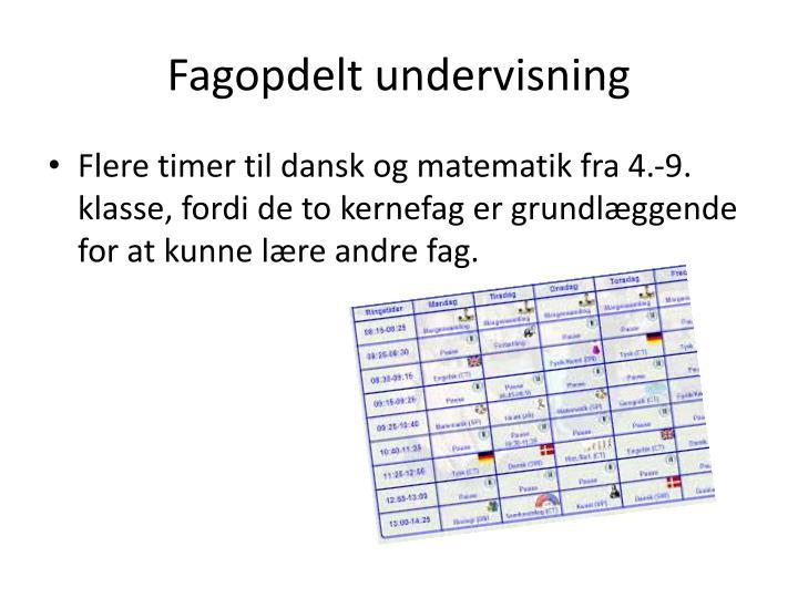 Fagopdelt