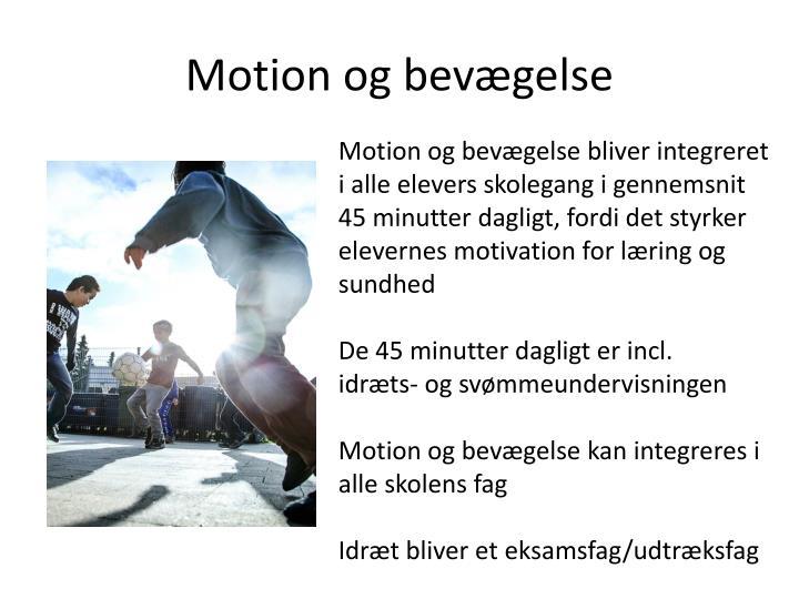 Motion og bevægelse