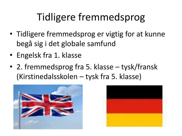 Tidligere fremmedsprog