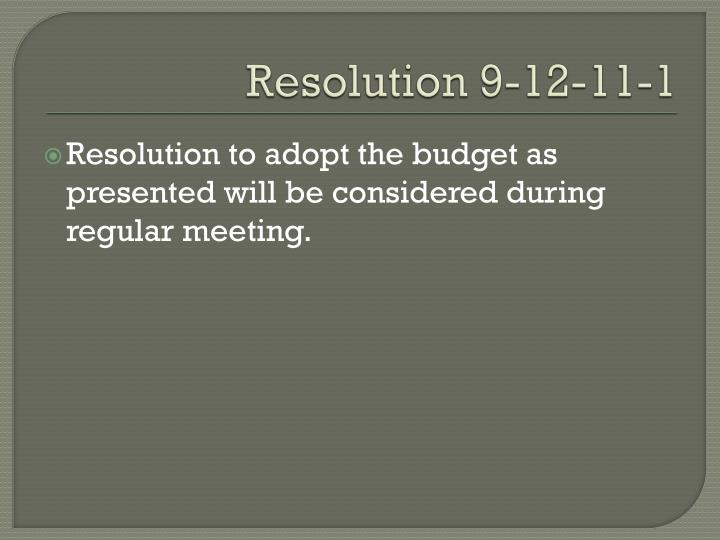 Resolution 9-