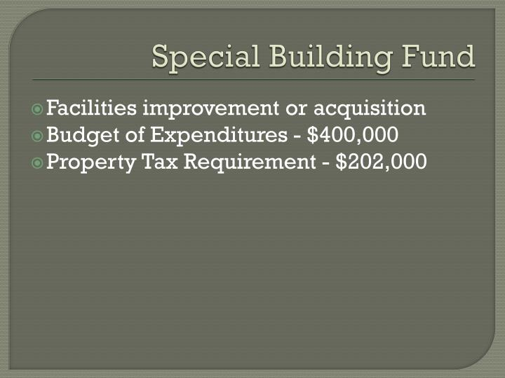 Special Building Fund