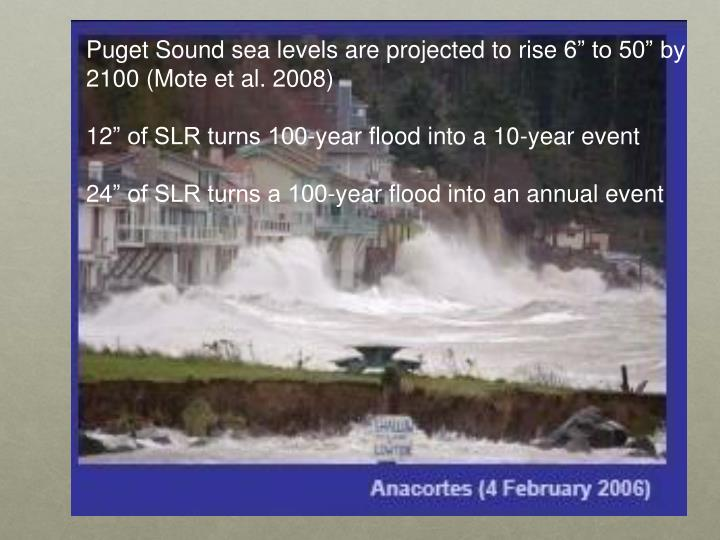 Puget Sound sea levels are projected to rise