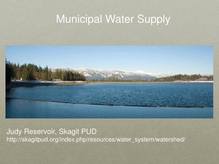 Municipal Water Supply