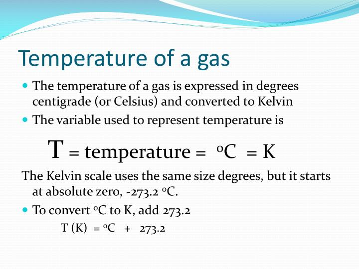 Temperature of a gas