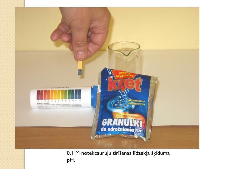 0,1 M notekcauruļu tīrīšanas līdzekļa šķīduma