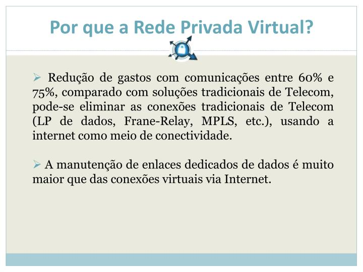 Por que a Rede Privada Virtual?