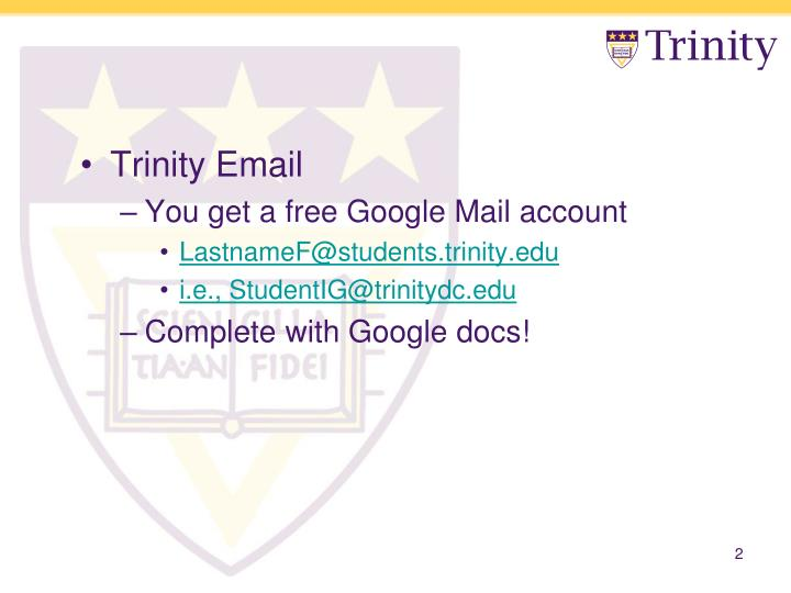 Trinity Email