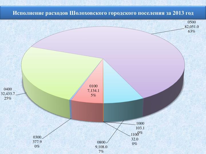 Исполнение расходов Шолоховского городского поселения за 2013 год