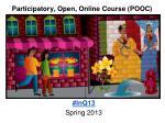 participatory open online course pooc