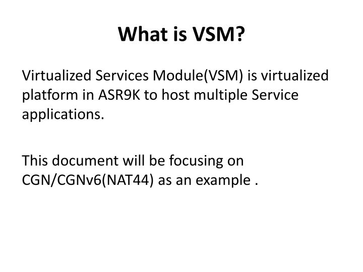 What is VSM?