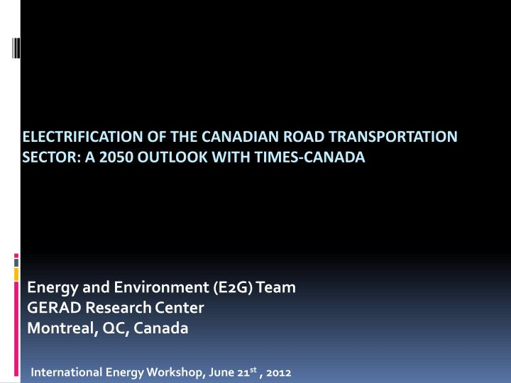 Energy and environment e2g team gerad research center montreal qc canada