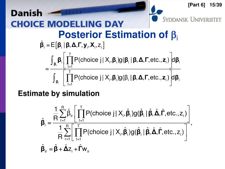 Posterior Estimation of