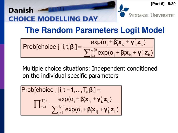 The Random Parameters Logit Model