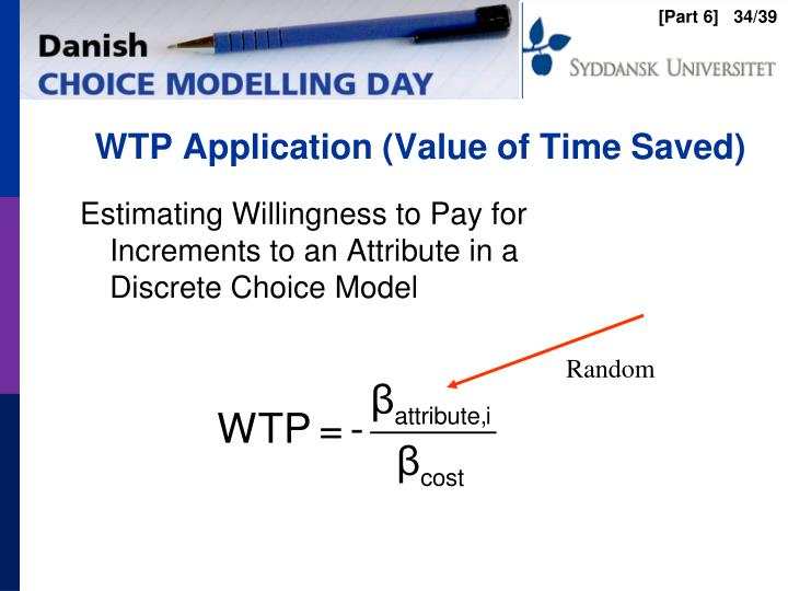 WTP Application (Value of Time Saved)