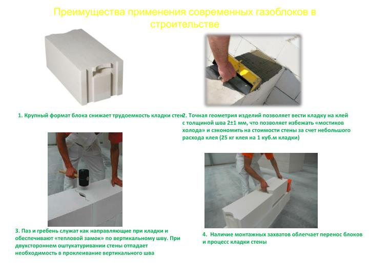 Преимущества применения современных газоблоков в строительстве