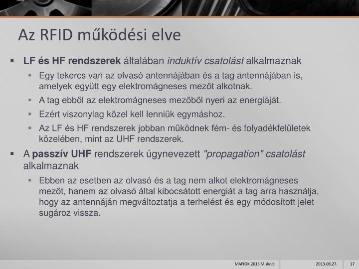 Az RFID működési elve