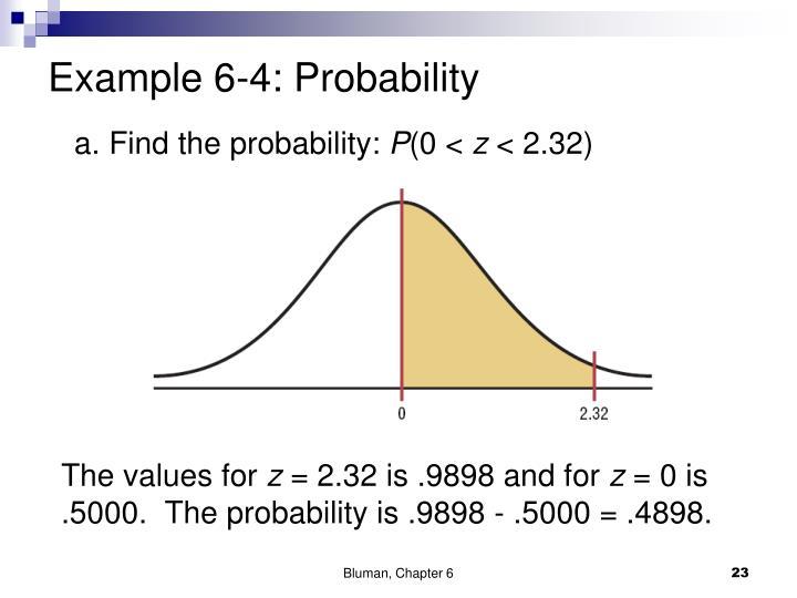 Example 6-4: Probability