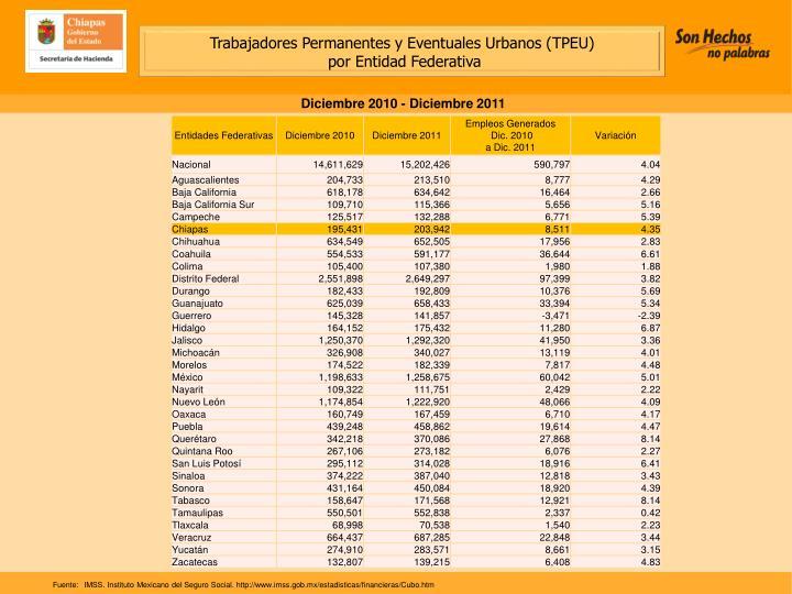 Trabajadores Permanentes y Eventuales Urbanos (TPEU)