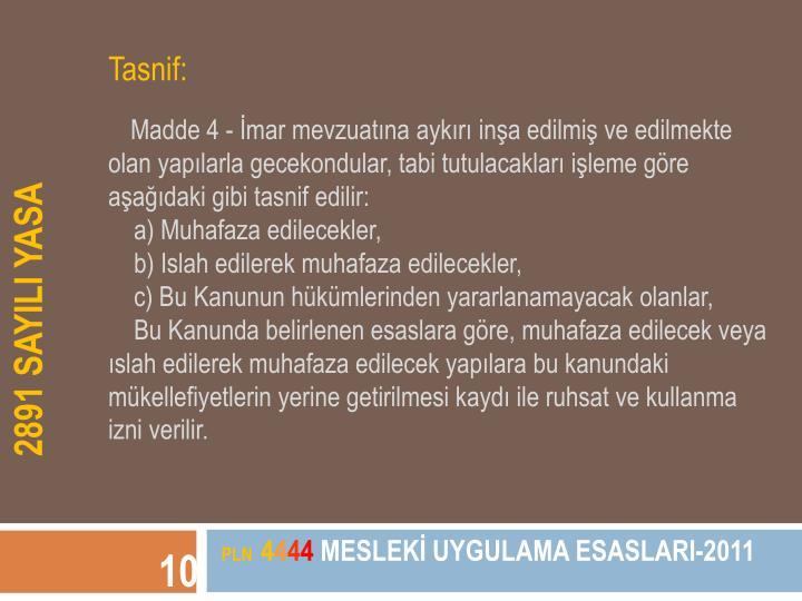 Tasnif: