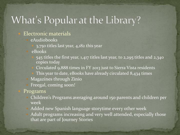 What's Popular at the Library?