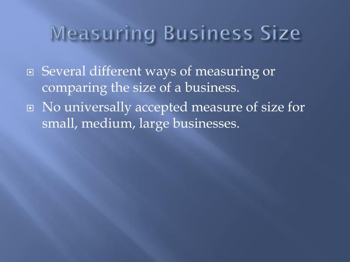 Measuring business size