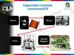 capacidad instalada lanammeucr