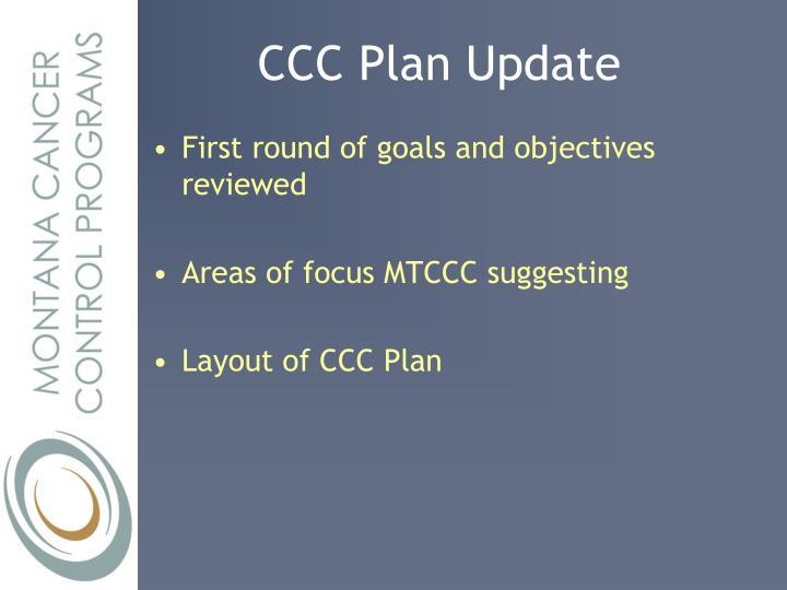 CCC Plan Update