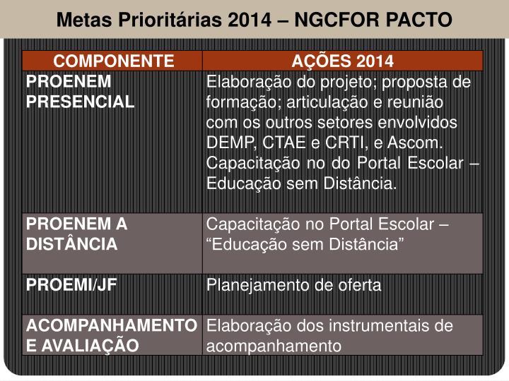 Metas Prioritárias 2014 –