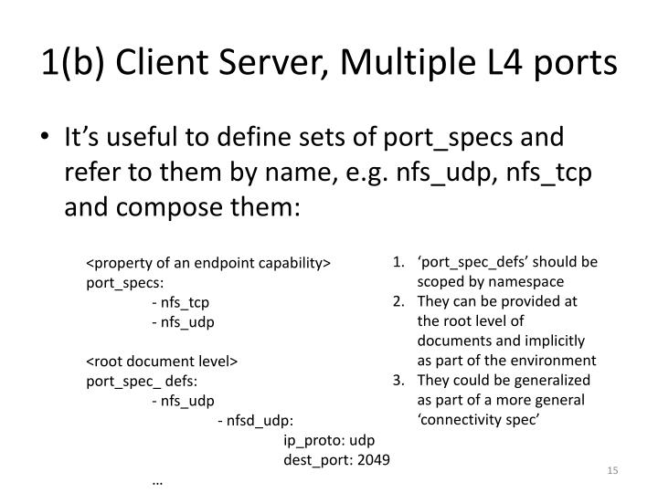 1(b) Client Server, Multiple L4 ports