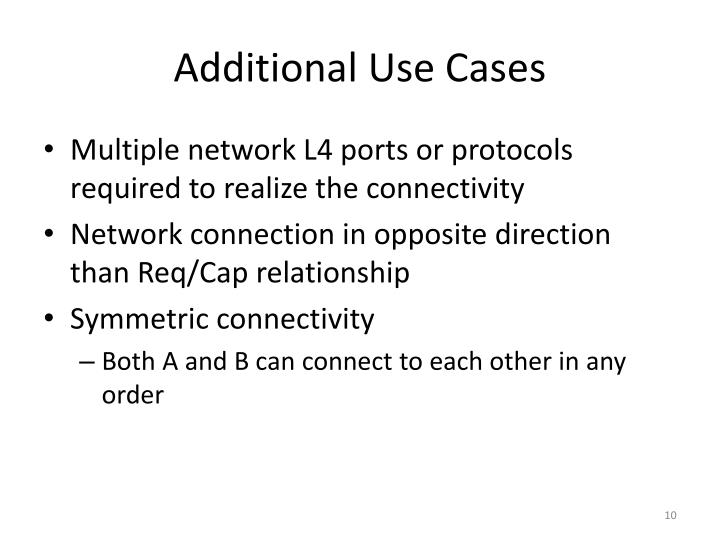 Additional Use Cases