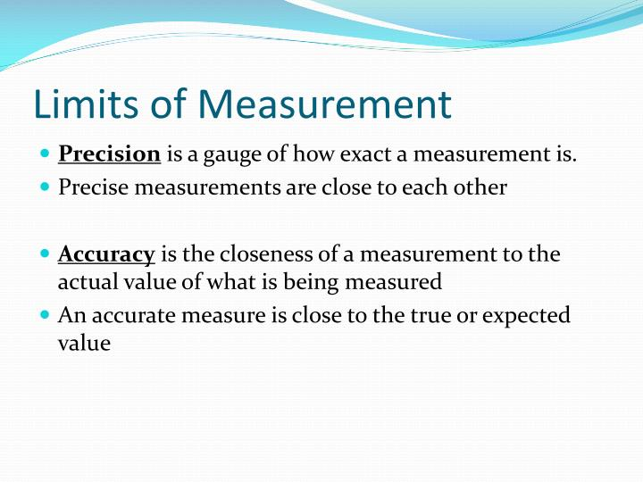 Limits of Measurement