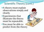 scientific theory cont